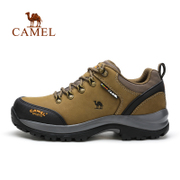The first layer of leather camel outdoor climbing shoes men's leather autumn winter waterproof non slip wear hiking outdoor shoes