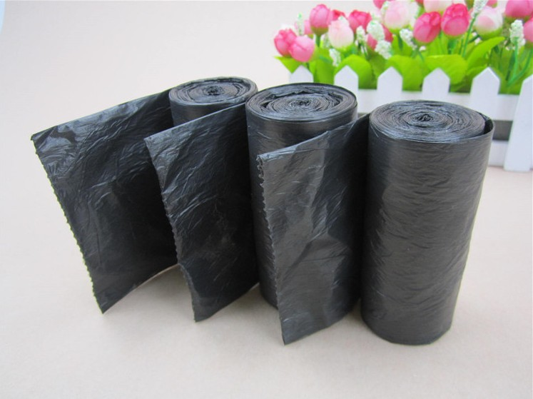 Promotional point-breaking General-thickening PE environmental disposable trash bag medium size wholesale kitchen office email