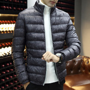 The young men padded short winter cotton padded jacket fat XL winter jacket Korean tide