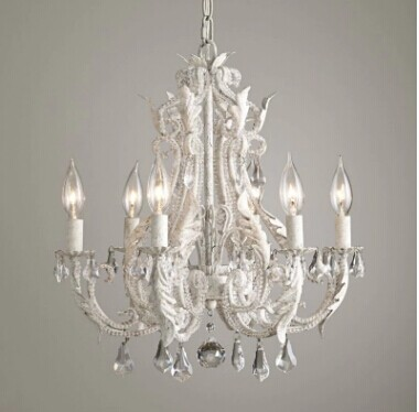 American classic French iron crystal beads Jane living room children room bedroom real Princess Castle palace Chandelier