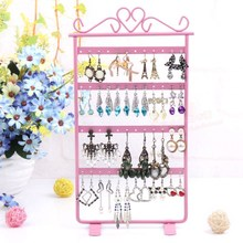 European Iron jewelry frame Earrings Necklace storage rack jewelry display props creative jewelry rack