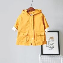 Childrens clothing childrens spring new Korean version boys and girls cotton Hoodie long padded coat in baby boomers
