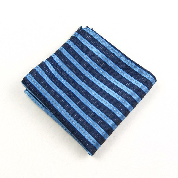 IFSONG dark blue square silver stripe Pocket cloth accessories boutique men 367 c