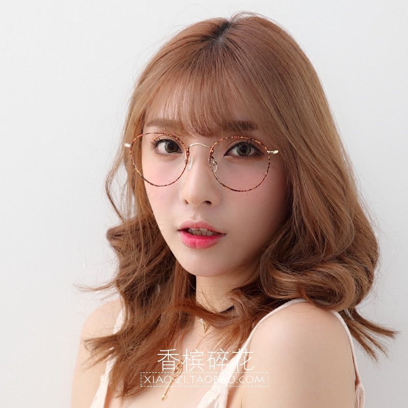 Round frame retro myopia glasses, women's fashion art, Japanese metal round frames, ultra light and fine border mail