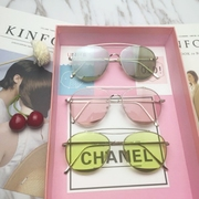 The blue sea legend Gianna Jun Li Xiaolu sunglasses sunglasses tears with jelly color female transparent glasses