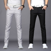 The fall of the new loose straight slim black summer casual pants men's trousers male trend of Korean men's trousers trousers