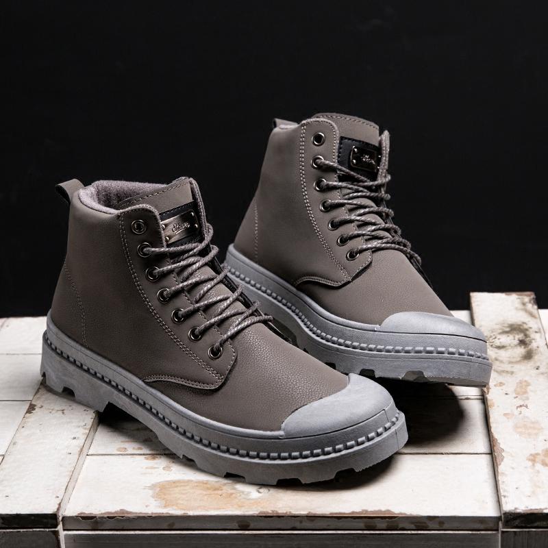 马丁靴男中邦帕拉丁男鞋韩版百搭英伦工装男士靴子冬季高帮短靴潮