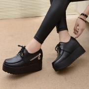 Spring and Autumn New England round all-match shoes tide in high heels increased casual shoes Harajuku platform shoes