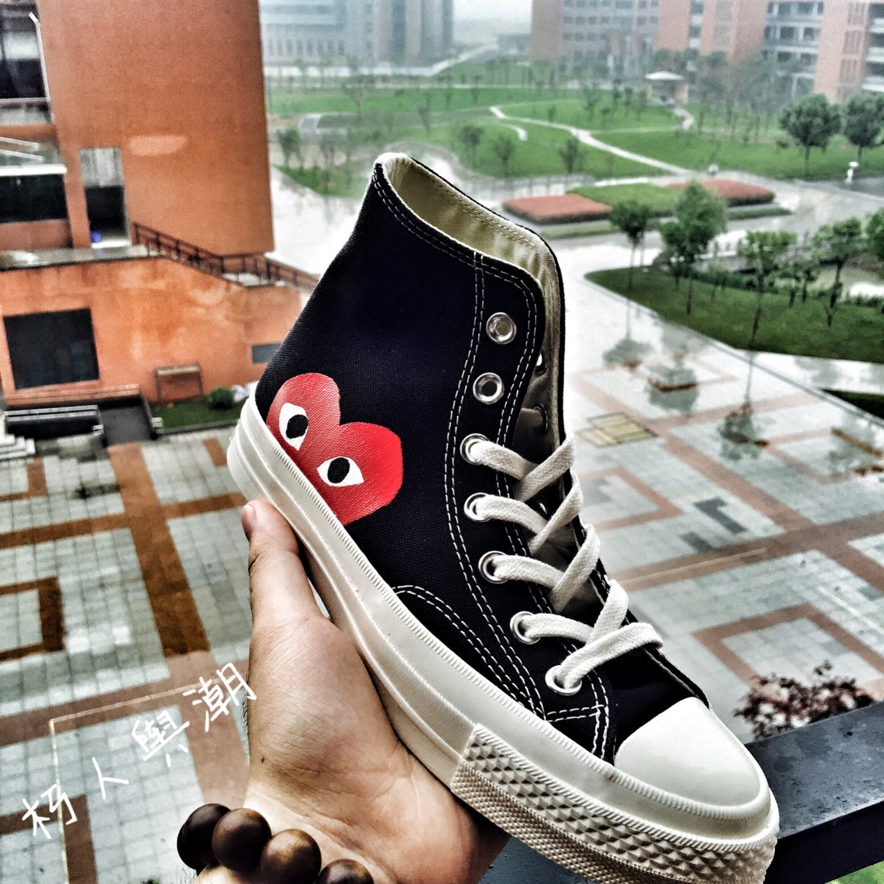 现货 三星标 川久保玲 CDG x Converse 1970s 匡威高帮帆布鞋