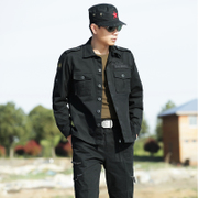 Outdoor camouflage suit male commando army fan summer cotton field combat overalls long-sleeved pants quality goods