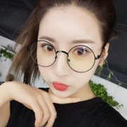 The circular male and female anti blue frame glasses glasses myopia eyes. The plane mirror retro literary small fresh