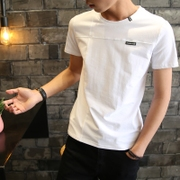 2 pieces, summer, men's short sleeve T-shirts, teenage T-shirts, half sleeves, white T-shirts, trend men's blouses, solid colors
