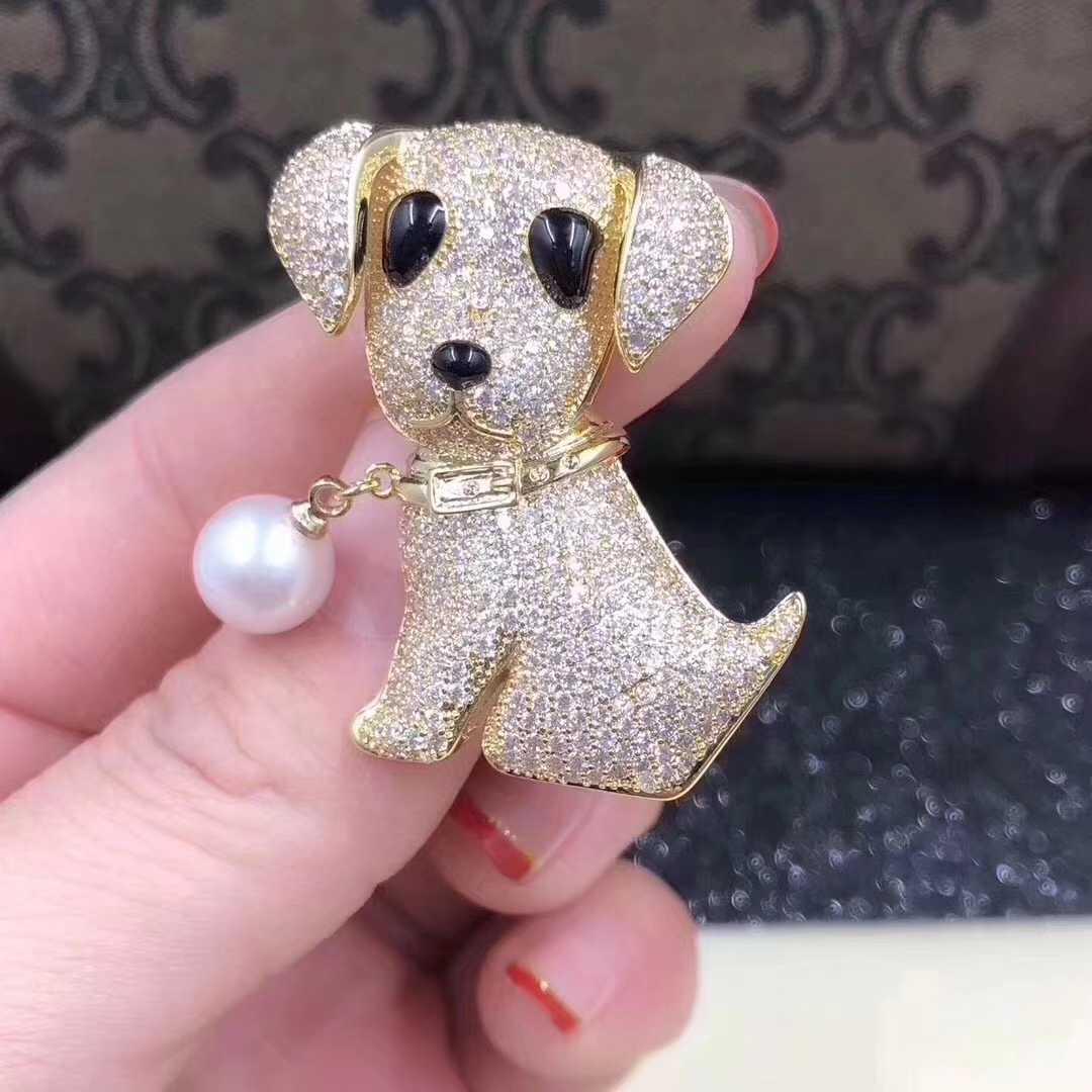 小狗胸针男女情侣狗年吉祥物圣诞节新年礼品