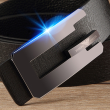 Genuine Armani men casual leather belt Zhuo a first layer of leather belt buckle smooth young men
