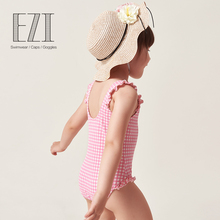 Yizi children's bathing suits girls baby infant one-piece swimsuit Xiaozhong Datong triangle cute hot swimsuit