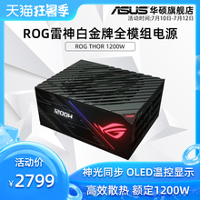 Rog player country Thor 1200W full module white gold desktop computer mainframe case ASUS power supply