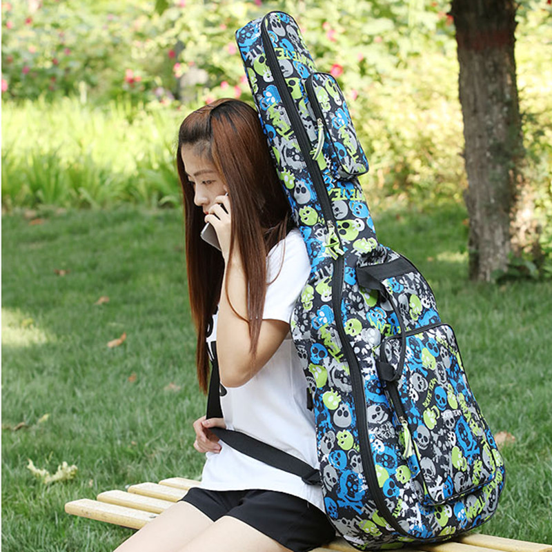 Shipping new colorful personality guitar bag 3839 waterproof shoulder thick 4041 inch package classical Ballads