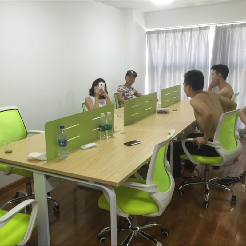 特价职员办公桌简约办公家具4人6位工作屏风