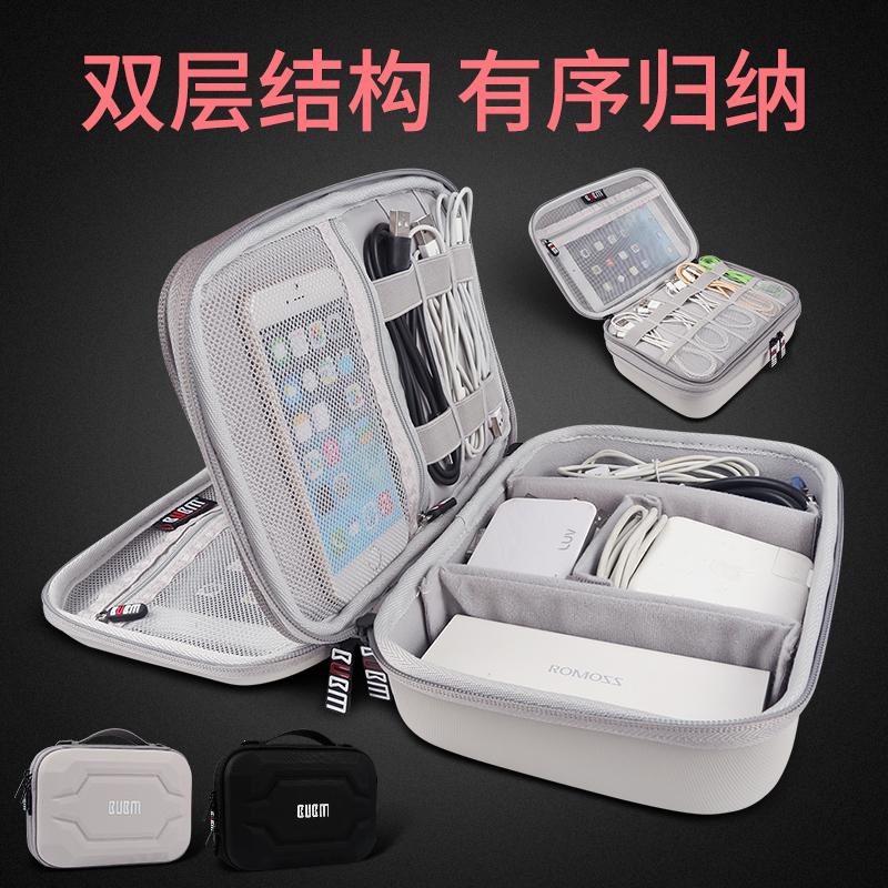 移动硬盘耳机收纳包盒数据线充电器电源鼠标