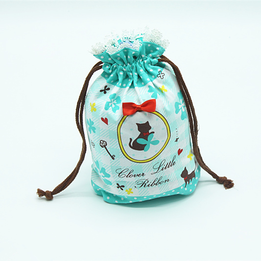 Cotton twill XiuLing firms lace cartoon bouquet of pocket bag to receive bag of cartoon design