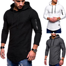 mens Hooded T Shirts long sleeve Male Hip Hop sports Hoodies