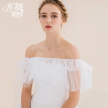Water dance bride summer thin bud silk yarn shawl word shoulder super fairy fresh wedding shawl P0073