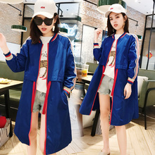 2018 summer new Korean version of ins sun protection clothing coat long loose wild thin section sun protection clothing windbreaker female