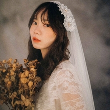 Wish Headdress 2019 New Hair Hoop Brigade to Take Short Wedding Garment Photos of the Bride's Marriage Vegetable Garment in the Republic of Pearl