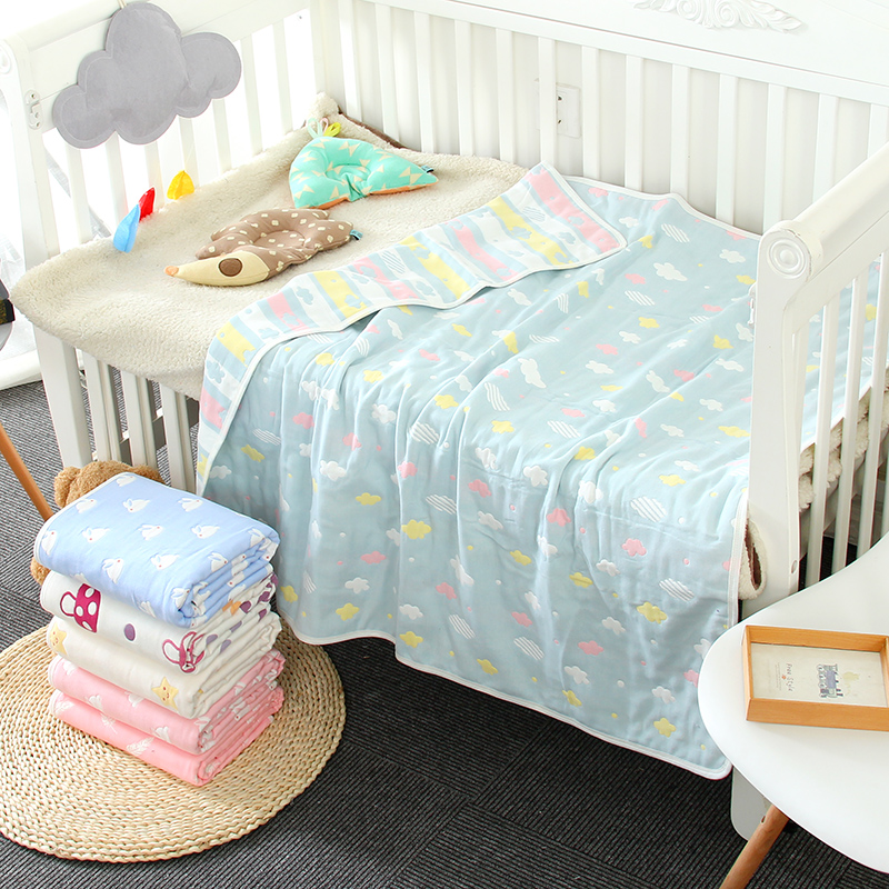 New baby sheets, sheets, newborn bags, summer cotton, gauze, kindergarten sheets, air conditioning blankets, no fluorescence