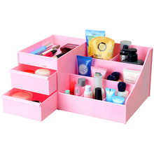 Desktop skin care cosmetic storage box drawer type rack accessories jewelry large plastic storage box.