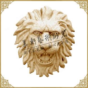 慕轩砂岩喷水雕塑 欧式喷水池喷泉喷口墙面狮头挂件 欧式喷泉雕塑
