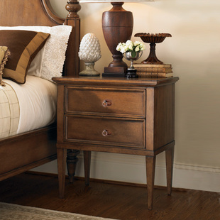 美式床头柜 美式家具 地中海风格欧式乡村田园卧室储
