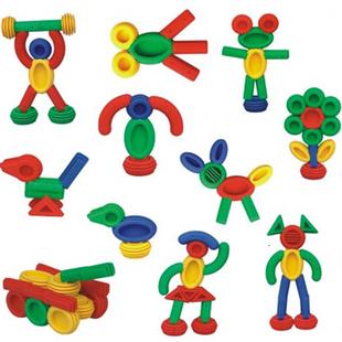 a积木积木儿童拼插耀辉塑料目标益智玩具幼儿园3-7岁桌面玩具软体幼儿游戏v积木积木图片