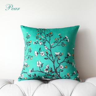 梨花弥乐家居原创意奢华布个性艺术抱枕套被客厅欧式沙发坐靠垫套图片