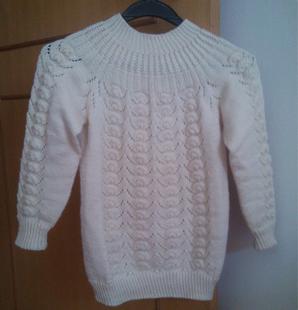 儿童毛衣纯手工编织贝壳花定制女童打底套头外套毛线衣可选色