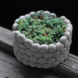 个性创意手工仿石头花盆粗陶韩国多肉植物花盆肉肉简约美观盆器