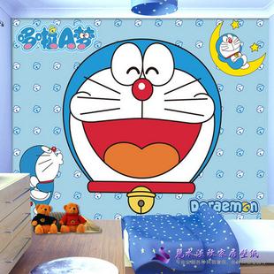 卡通动漫客厅电视背景墙壁纸壁画无纺布墙纸哆啦a梦机器猫背景墙