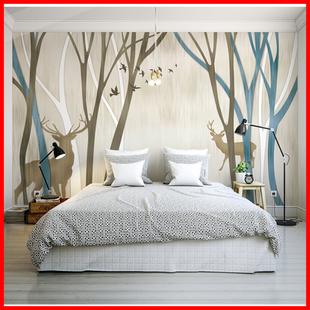 电视背景墙欧式壁纸3d墙纸 客厅卧室无缝墙布无纺布北欧风格壁画图片