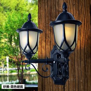 欧式防水庭院阳台大门别墅双头两头壁灯0005-wu-2