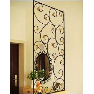 创意铁艺屏风玄关隔断时尚现代装饰屏风花窗家具装饰花窗花格客厅