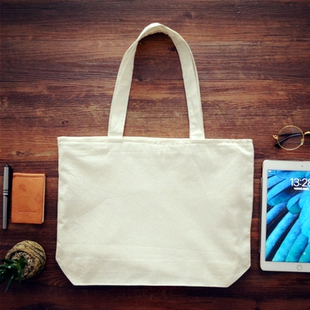 定制毕业设计简约原创纯色棉麻布包文艺学生包帆布购物袋环保袋