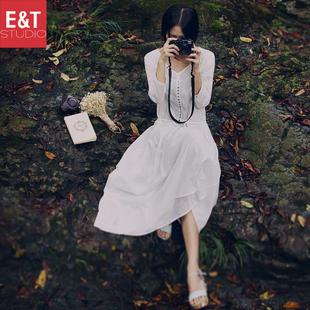 杭州乙丁视觉 淘宝摄影文艺复古棉麻女服装拍摄拍照森系模特外景