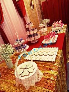 深圳粉色主题 婚礼甜品桌 结婚婚庆 酒会派对蛋糕甜品台 西式点心图片