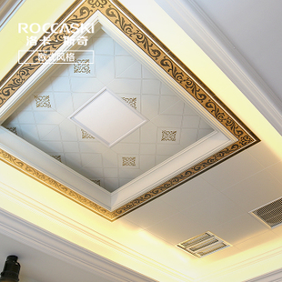 吊顶铝扣板卫生间厨房集成吊顶扣板套餐安装欧式风格