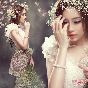 影楼主题服装摄影婚纱礼服2015新款甜美可爱小清新短裙个人写真