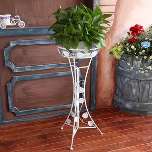 欧式铁艺花架子 落地式阳台室内客厅绿萝吊兰单层