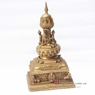 佛教用品 纯铜舍利塔 纯铜佛塔/铜舍利塔 铜宝箧印塔 金刚须弥座
