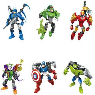 乐高式拼装积木复仇者联盟超级英雄工厂系列钢铁侠美国队长绿巨人图片