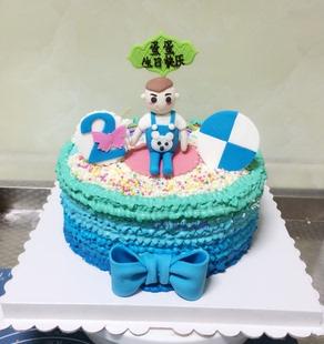 新品昆明 卡通创意 翻糖蛋糕 生日蛋糕 可个性定制 动物可爱