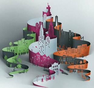 创意纸艺立体构成作业模型,手工比赛基本功考试作品教具电子图纸